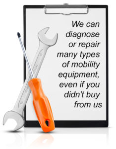 We do Repairs of Mobility Equipment